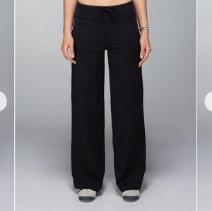 Lululemon Black Still Yoga Pants Activewear Lounge